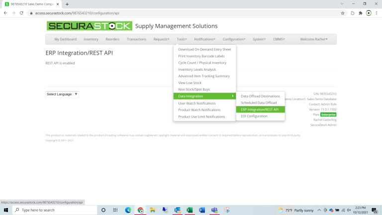 ERP Integration/REST API