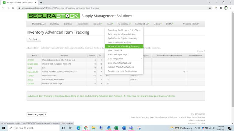 Advanced Item Tracking